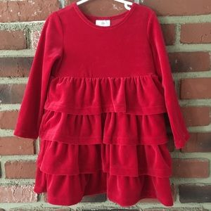 Hanna Andersson Red Velvet Dress 100